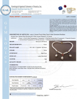 White Pearl & 7.90ct Natural Tanzanite & Ruby Necklace (GAL Certified) at PristineAuction.com