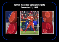 PATRICK MAHOMES 2018 PHOTO MATCHED GAME WORN PANTS MYSTERY SWATCH BOX! at PristineAuction.com