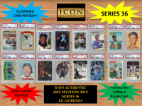 ICON AUTHENTIC  300X MYSTERY BOX SERIES 36 300+ Cards per Box at PristineAuction.com