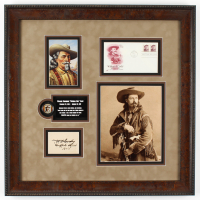 "Buffalo Bill Signed 22.5x22.5 Custom Framed Cut Display Inscribed ""1908"" (JSA ALOA) at PristineAuction.com"