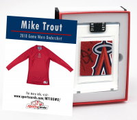 MIKE TROUT 2018 ANAHEIM ANGELS GAME WORN SHIRT MYSTERY SWATCH BOX! at PristineAuction.com
