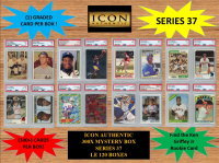 ICON AUTHENTIC  300X MYSTERY BOX SERIES 37 300+ Cards per Box at PristineAuction.com