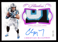 Christian McCaffrey 2018 Panini Flawless Patch Autographs Ruby #25 at PristineAuction.com