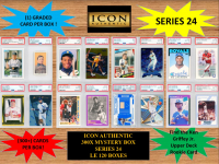 ICON AUTHENTIC  300X MYSTERY BOX SERIES 24 300+ Cards per Box at PristineAuction.com