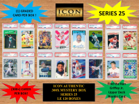 ICON AUTHENTIC  300X MYSTERY BOX SERIES 25 300+ Cards per Box at PristineAuction.com