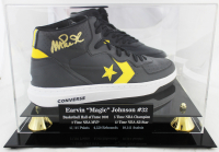Magic Johnson Signed Converse Basketball Shoe With High Quality Display Case (Beckett COA) at PristineAuction.com