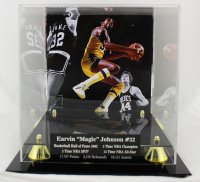 Magic Johnson Signed NBA Basketball with High-Quality Display Case (Beckett COA) at PristineAuction.com