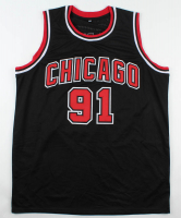 "Dennis Rodman Signed Jersey Inscribed ""5x NBA Champ"" (Beckett COA) at PristineAuction.com"