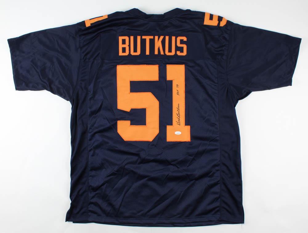 "Dick Butkus Signed Jersey Inscribed ""HOF 79"" (JSA COA) at PristineAuction.com"