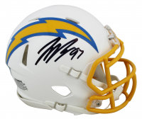 Joey Bosa Signed Chargers Speed Mini Helmet (Beckett COA) at PristineAuction.com