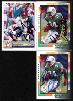 Lot of (3) 1992 Aaron Craver Signed Cards with (2) Wild Card #20 & Upper Deck #192 (JSA ALOA) at PristineAuction.com
