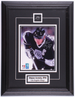 Wayne Gretzky 17x22 Custom Framed Photo Display with Kings Pin (Gretzky & JSA COA) at PristineAuction.com