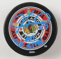 "Jeremy Roenick Signed Blackhawks Logo Hockey Puck Inscribed ""9x All Star"" (Beckett COA) at PristineAuction.com"