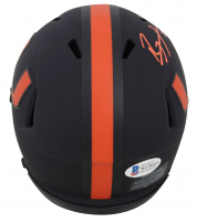 Ray Lewis Signed Miami Hurricanes Eclipse Speed Mini Helmet (Beckett COA) at PristineAuction.com