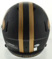 """Drew Brees Signed Saints Eclipse Alternate Full-Size Speed Helmet Inscribed """"All Time Passing Yards Leader 10/8/18"""" (Beckett COA & Brees Hologram) at PristineAuction.com"""