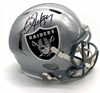 Bo Jackson Signed Raiders Full-Size Authentic On-Field Speed Helmet (Beckett COA at PristineAuction.com