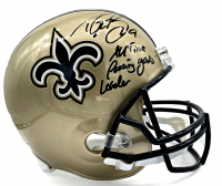 "Drew Brees Signed Saints Full-Size Helmet Inscribed ""All Time Passing Yards Leader"" (Beckett COA & Brees Hologram) at PristineAuction.com"