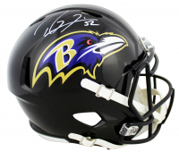 Ray Lewis Signed Ravens Full-Size Speed Helmet (Beckett COA) at PristineAuction.com