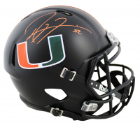 Ray Lewis Signed Miami Hurricanes Full-Size Matte Black Speed Helmet (Beckett COA) at PristineAuction.com
