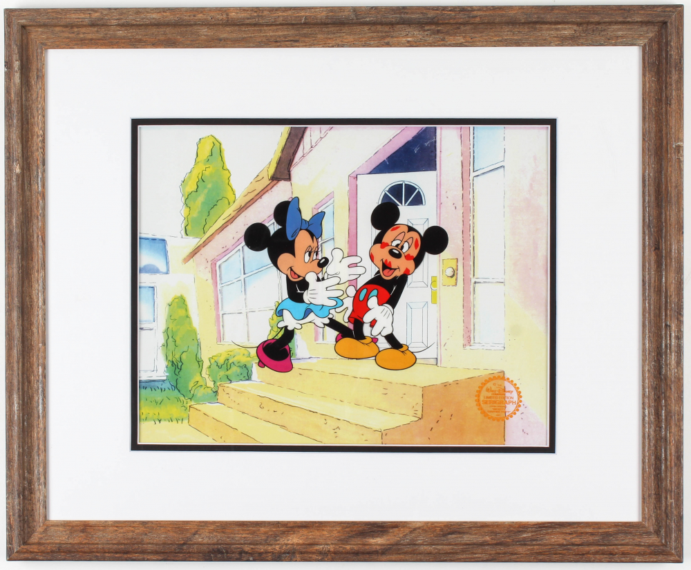 "Walt Disney's ""Mickey's Surprise Party"" 18.5x22.5 Custom Framed Animation Sericel Display at PristineAuction.com"