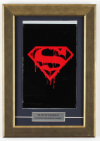 "1992 ""Superman"" 11.5x16.5 Custom Framed Issue #75 DC Comic Book Black Bag Collector's Set at PristineAuction.com"