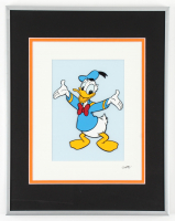 "Walt Disney's ""Donald Duck"" 11.5x14.5 Custom Framed Hand-Painted Animation Serigraph Display at PristineAuction.com"