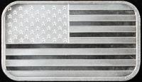 1 Ounce .999 Fine Silver American Flag Bullion Bar at PristineAuction.com