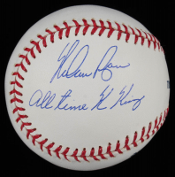 "Nolan Ryan Signed OML Baseball Inscribed ""All Time K King"" (AIV COA & Ryan Hologram) at PristineAuction.com"