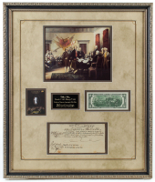 William Ellery Signed 22x26 Custom Framed Cut Display (JSA ALOA) at PristineAuction.com