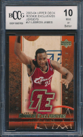 LeBron James 2003-04 Upper Deck Rookie Exclusives Jerseys #J1 (BCCG 10) at PristineAuction.com