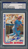 Pete Rose Signed 1982 Topps #781 In-Action (PSA Encapsulated) at PristineAuction.com