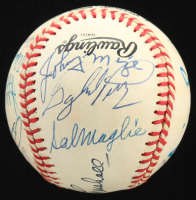 Giants Greats ONL Baseball Signed by (16) with Willie Mays, Leo Durocher, Juan Marichal, Willie McCovey, Hoyt Wilhelm, Fergie Jenkins, Gaylord Perry, Johnny Mize (Beckett LOA) at PristineAuction.com