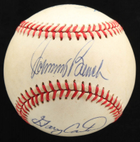 """All Time Catching Greats"" ONL Baseball Signed by (6) with Johnny Bench, Gary Carter, Bill Dickey, Yogi Berra, Ted Simmons & Rick Ferrell (Beckett LOA) at PristineAuction.com"