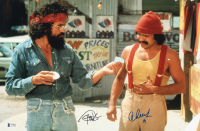 """Cheech Marin & Tommy Chong Signed """"Up In Smoke"""" 12x18 Photo Inscribed """"19"""" (Beckett COA) at PristineAuction.com"""