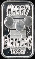 1 Troy Ounce .999 Fine Silver Happy Birthay Bullion Bar at PristineAuction.com
