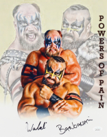 The Warlord & The Barbarian Signed WWE 11x14 Photo (JSA Hologram) at PristineAuction.com
