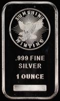 1 Oz. 999 Fine Silver Sunshine Minting Bullion Bar at PristineAuction.com