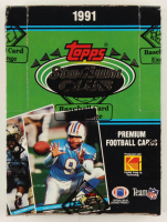 1991 Topps Stadium Club Football Wax Box (BBCE Certified) at PristineAuction.com