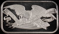 1 Oz. 999 Fine Silver Silvertowne Eagle Bullion Bar at PristineAuction.com