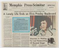 Elvis Presley Vintage August 17, 1977 Death Day Original Memphis Newspaper at PristineAuction.com
