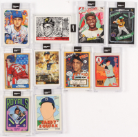 Lot of (10) 2020 Topps Project Cards With Mike Trout #63, Roberto Clemente #68, Sandy Koufax #76 at PristineAuction.com
