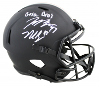 "Joey Bosa & Nick Bosa Signed Ohio State Buckeyes Full-Size Matte Black Speed Helmet Inscribed ""Bosa Bros"" (Beckett COA) at PristineAuction.com"