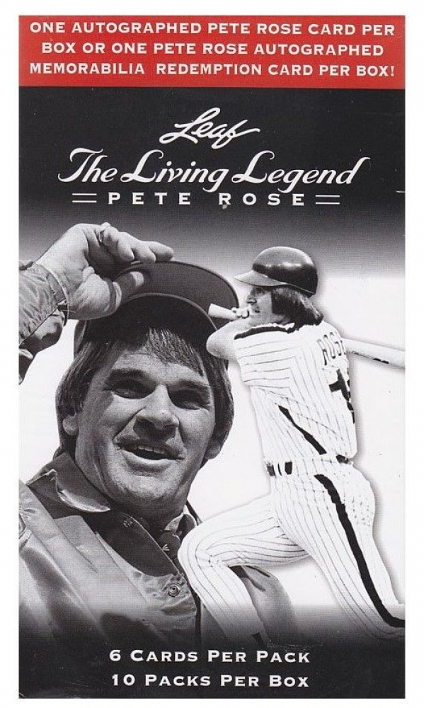 2012 Leaf Pete Rose The Living Legend Baseball Blaster Box with (10) Packs at PristineAuction.com