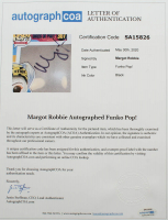 "Margot Robbie Signed ""Birds Of Prey"" #307 Harley Quinn Funko Pop Vinyl Figure Inscribed ""XX HQ""  (AutographCOA LOA) at PristineAuction.com"
