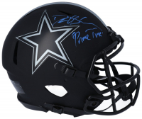"""Deion Sanders Signed Cowboys Full-Size Authentic On-Field Eclipse Alternate Speed Helmet Inscribed """"Prime Time"""" (Fanatics Hologram) at PristineAuction.com"""