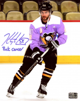 "Kris Letang Signed Penguins 8x10 Photo Inscribed ""Puck Cancer"" (Letang COA) at PristineAuction.com"