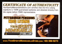 """Kris Letang Signed Penguins 8x10 Photo Inscribed """"Puck Cancer"""" (Letang COA) at PristineAuction.com"""
