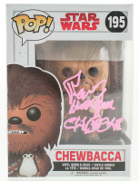 """Peter Mayhew Signed """"Star Wars"""" #195 Chewbacca Funko Pop! Vinyl Figure Inscribed """"Chewbacca"""" (JSA Hologram) at PristineAuction.com"""