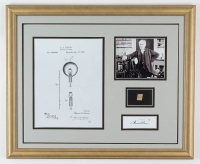 Thomas Edison 18x22 Custom Framed Display with (1) Hand-Written Word from Letter (JSA LOA Copy) at PristineAuction.com