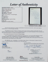 Ronald Reagan 18x22 Custom Framed Display with (1) Hand-Written Word from Letter (JSA LOA Copy) at PristineAuction.com